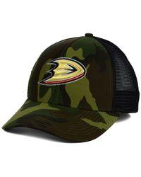 Reebok | Green Anaheim Ducks Camo Trucker Cap for Men | Lyst