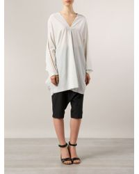 Lost & Found - White Sleeve Cut-out Detail Tunic - Lyst