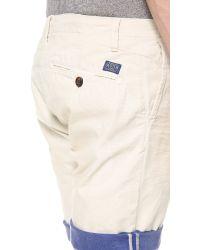 Scotch & Soda Blue Freeman Chino Shorts for men