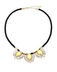 ABS By Allen Schwartz - Metallic Triple Pendant Cord Necklace for Men - Lyst