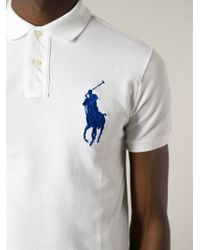 Polo Ralph Lauren - White Big Pony Cotton Polo Shirt for Men - Lyst