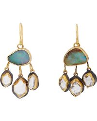 Judy Geib | Blue Boulder Opal & Herkimer Diamond Multi-drop Earrings | Lyst