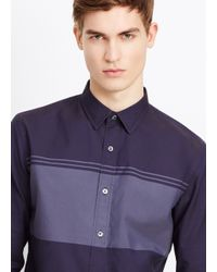 Vince Gray Engineered Oxford Stripe Button Up for men