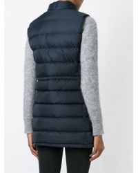 Aspesi - Blue High-Neck Quilted Vest  - Lyst