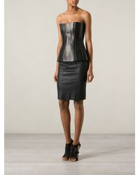 Givenchy Black Bustier Top