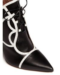 Tabitha Simmons Black Tinsley' Brogue Trim Leather Ankle Boots