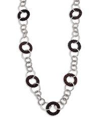 John Hardy Metallic Palu Rose Wood  Sterling Silver Sautoir Link Necklace