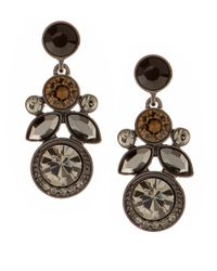 Givenchy | Gray Olympic Smoky Crystal Drop Earrings | Lyst