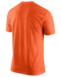 Nike Orange Men's Denver Broncos Mesh Logo T-shirt for men