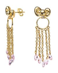 Noir Jewelry | Metallic Hello Kitty Bow Dangle Earring | Lyst