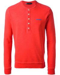 DSquared² Red Long Sleeve T-shirt for men