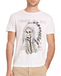 True Religion - Gray 4th Avenue Headdress Tee for Men - Lyst