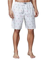 Polo Ralph Lauren | White Pony-Print Woven Pajama Shorts for Men | Lyst