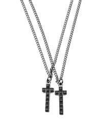 DSquared² - Black Necklace for Men - Lyst