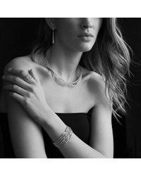 David Yurman - Metallic Willow Fiverow Ring with Diamonds - Lyst