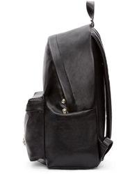 Versus Black Leather Lion Head Backpack for men