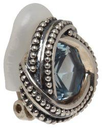 Stephen Dweck - Metallic Silver Blue Topaz Clip-On Earrings - Lyst