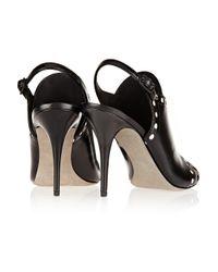 Alexander Wang - Black Natalya Paneled Leather Sandals - Lyst