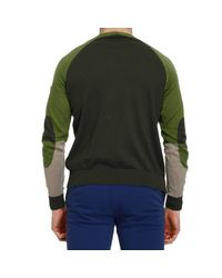 Armani Jeans | Green Sweater Knit Crew-neck Multicolor for Men | Lyst