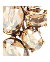 Oscar de la Renta - Metallic Vintage Crystal-Embellished Clip-On Earrings - Lyst