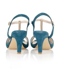 Lotus | Blue Geraldine Open Toe Shoes | Lyst