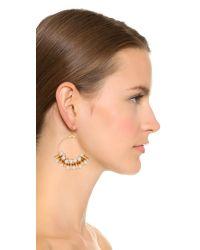Kenneth Jay Lane | Metallic Imitataion Pearl Hoop Earrings - Gold/pearl | Lyst