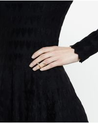 Bijules | Metallic Future Knuckle Ring With Pearls | Lyst