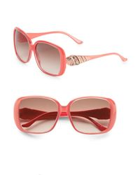 Judith Leiber - Pink 58mm Oversized Square Sunglasses - Lyst