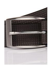 BOSS Green - Gray 'tofranc' | Leather Embossed Belt for Men - Lyst