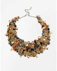 ALDO Multicolor Harmonie Bead Cluster Collar Necklace