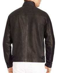 Pink Pony Black Polo Leather Barracuda Jacket for men