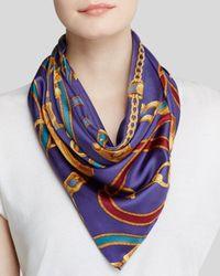 Ralph Lauren | Blue Lauren Adrienne Status Belts Silk Scarf | Lyst