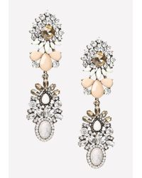 Bebe | Multicolor Double Cluster Earrings | Lyst