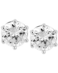 Robert Lee Morris | White Silver-tone Large Crystal Stud Earrings | Lyst