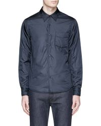 Aspesi Blue 'marvin' Thermore® Padded Shirt Jacket for men