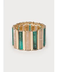 Bebe | Metallic Linear Stretch Bracelet | Lyst