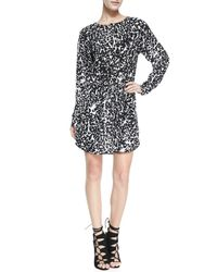 A.L.C. - White Simona Leopard Print Dress - Lyst