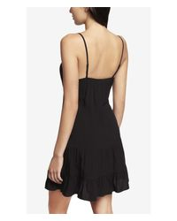 Express Black Chiffon Inset Tiered Cami Dress
