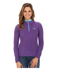 The North Face | Purple Glacier 1/4 Zip | Lyst