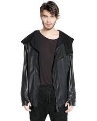 Giorgio Brato Black Nubuck & Nappa Leather Jacket for men