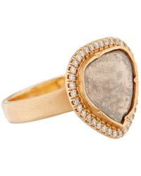 Brooke Gregson Pink Rose Gold And White Diamond Ring