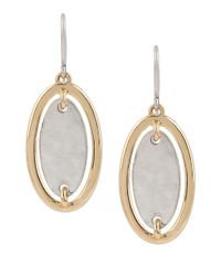 Robert Lee Morris | Metallic Boho City Hammered Two-tone Oval Drop Earrings | Lyst