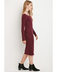 Forever 21 | Purple Midi Sweater Dress | Lyst