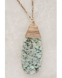 Anthropologie | Green Sierra Madre Pendant Necklace | Lyst