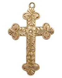 Annina Vogel | Metallic Vintage Gold Engraved Cross Charm | Lyst