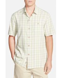 Tommy Bahama - Natural 'hawaii Plaid' Original Fit Short Sleeve Sport Shirt for Men - Lyst