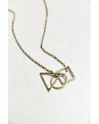 Urban Outfitters - Metallic Circle Square Triangle Necklace for Men - Lyst