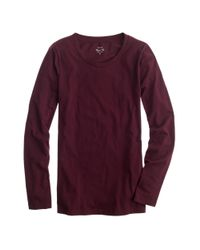 J.Crew - Purple Tissue Long-sleeve T-shirt - Lyst