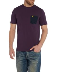 Lyle & Scott - Purple Contrast Pocket Crew Neck T-shirt for Men - Lyst