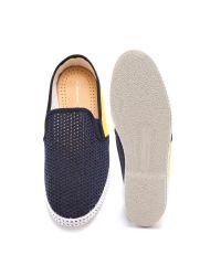 Rivieras Blue Tour Du Monde Pavillon Coupe Slip On Shoes for men